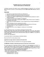 Conseil municipal du 09 Fevrier 2016