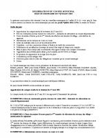 Conseil municipal du 09 Juillet 2015