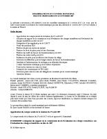 Conseil municipal du 11 Février 2017