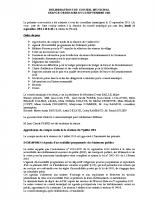 Conseil municipal du 21 Septembre 2015