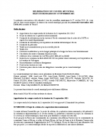Conseil municipal du 4 Novembre 2015